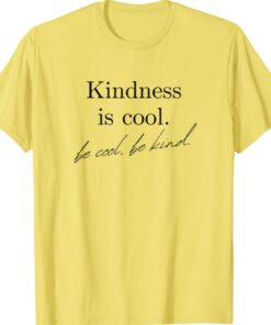 Yellow Inspirational Graphic Be Kind Shirt